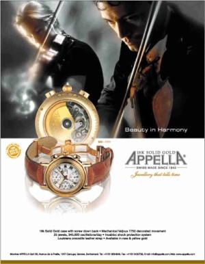 Appella (Апелла) - часы из Швейцарии, история бренда.