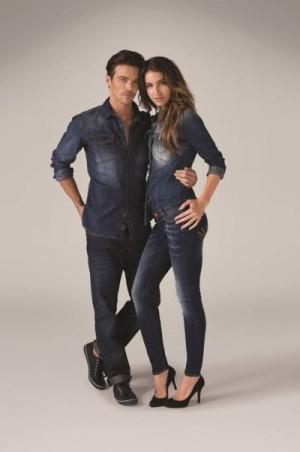 Лукбук мужской и женской джинсовой коллекции Colins сезона весна-лето 2014. Фото