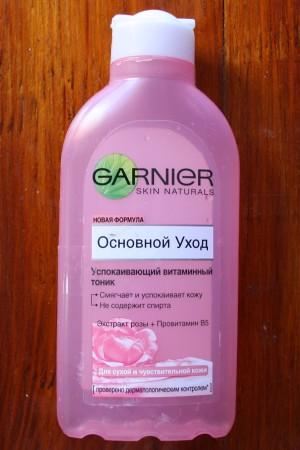 Garnier Skin Naturals Успокаивающий витаминный тоник для лица. Отзывы