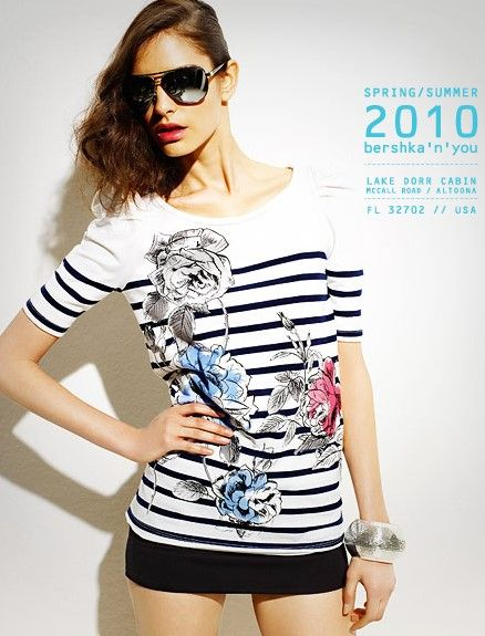 bershka 2010 женская одежда