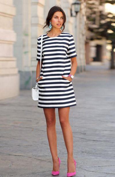 Фото платья с полосками